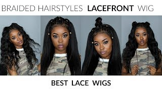 LACEFRONT WIG Braided Hairstyles! Pre-plucked WIG ft. BestLaceWigs | Pitts Twins