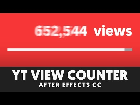 YouTube View Counter Animation (with comma) - After Effects Tutorial