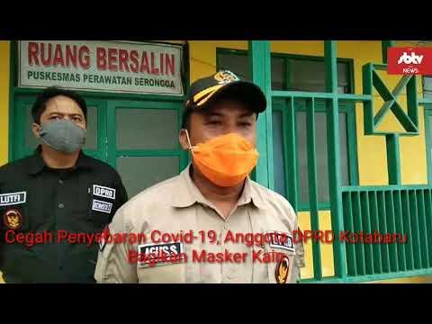 Cegah Penyebaran Covid-19, Anggota DPRD Kotabaru Agus Subejo Bagikan Masker