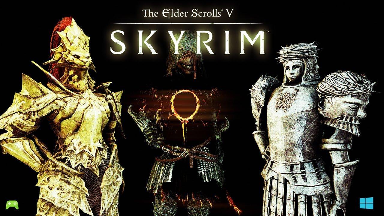 skyrim special edition Dark Souls Armor pack mod showcase [HD]