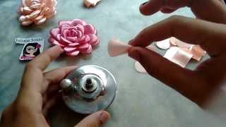 Flor boleada de fita PARTE 2