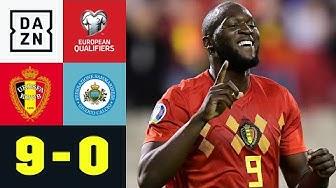 Belgien löst EM-Ticket mit Kantersieg: Belgien - San Marino 9:0 | EM-Quali | DAZN Highlights