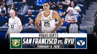 San Francisco Vs. Byu Basketball Highlights  2019-20  | Stadium