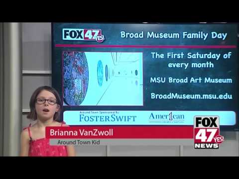Around Town Kids 3/31/17: Broad Art Museum family day