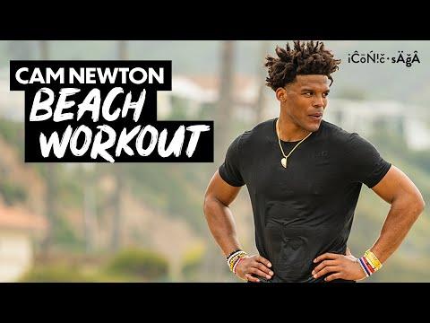 my offseason workout: training on Santa Monica beach | Cam Newton Vlogs