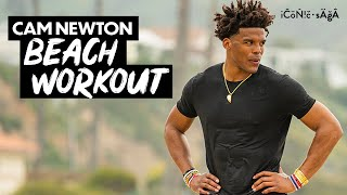 my offseason workout: training on Santa Monica beach | Cam Newton Vlogs