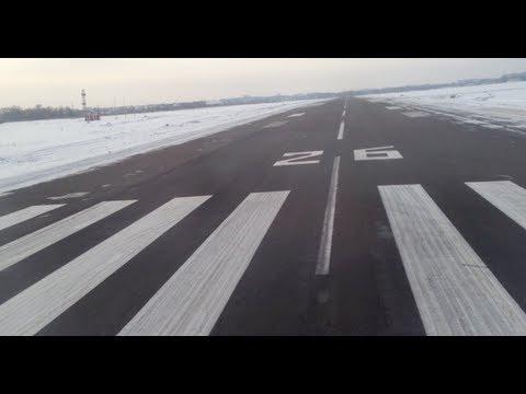 WizzAir spectacular take off from snowy Kiev Zhuliany UKKK(IEV)