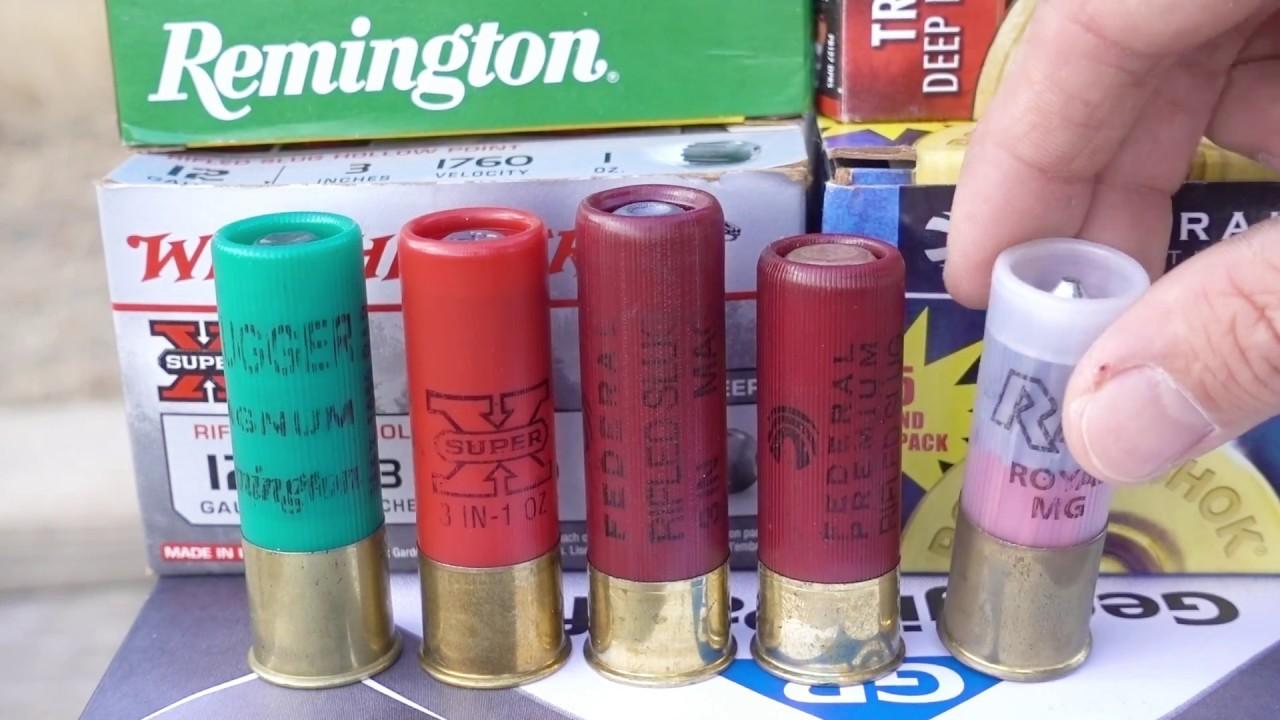Penetration of 12 gauge rifled slug galleries 67