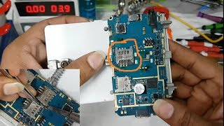 Samsung Mobile sim card slot Replacement    How to replace damaged sim card slot