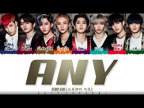 STRAY KIDS – 'ANY' (아니) Lyrics [Color Coded_Han_Rom_Eng]