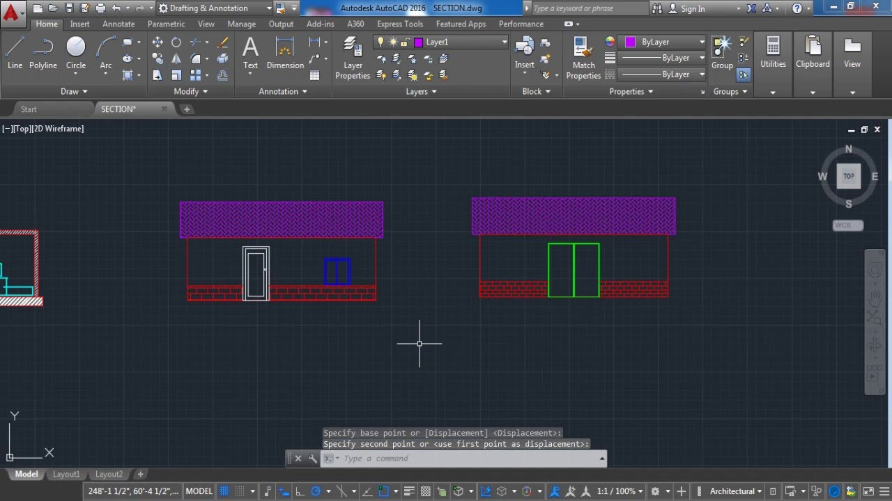 Front Elevation Autocad File : Autocad how to elevation front and back lesson
