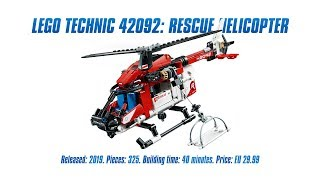 LEGO Technic 42092: Rescue Helicopter In-depth Review, Speed Build & Parts List [4K]