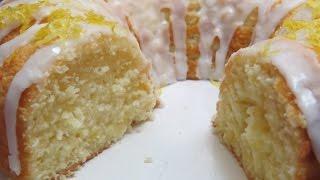 Easy   Lemon   Yogurt   Pound  Cake  w  Lemon  Glaze  Icing