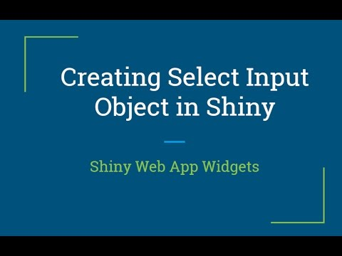 Shiny web app Tutorial | How to create reactive shiny Select Input Widget |  R Programming Tutorial