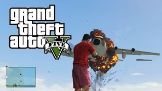 GTA 5 Funny Moments Car Ramps Into Helicopter & Safety First Minivan (GTA Online Funny Moments)