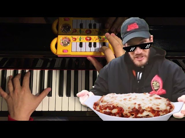 bitch lasagna but its played on