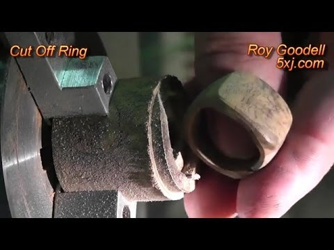 Machining a Stone Hopea Burl Ring on a 4x CNC Mill