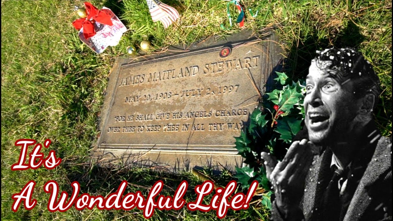 869 It S A Wonderful Life Tribute James Stewart Grave Martini S