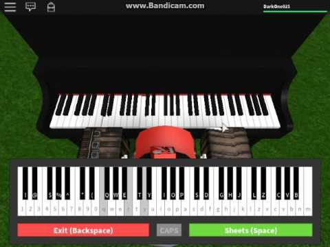 The Entertainer Easy Virtual Piano On Roblox Youtube