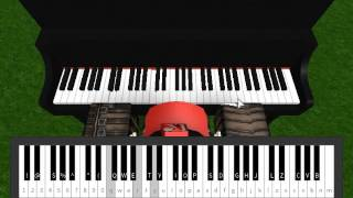 The entertainer (Easy) [Virtual piano on Roblox]
