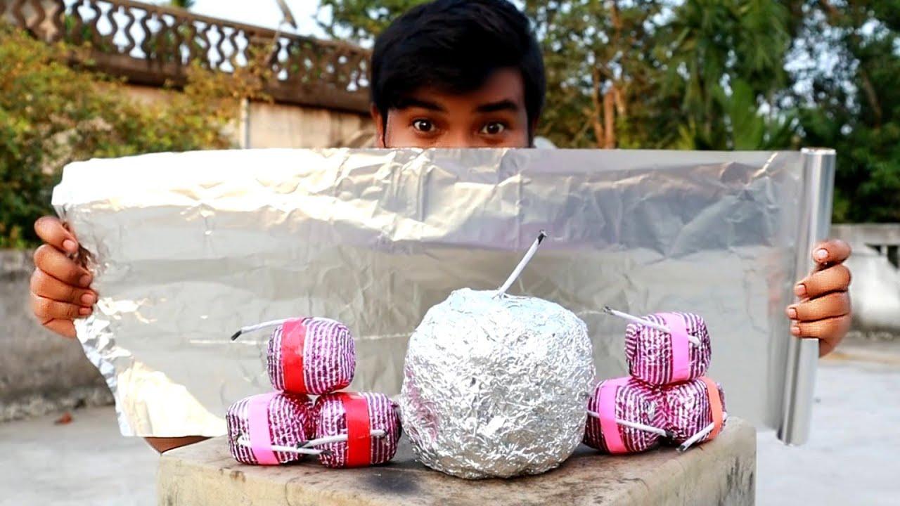 সুপার সাইজ চকলেট বাজি এক্সপেরিমেন্ট | Aluminium Foil vs Sutli Experiment 😱 | EXPERiMENTAL