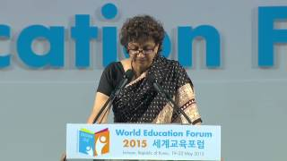 World Education Forum, May 2015, closing ceremony, Incheon