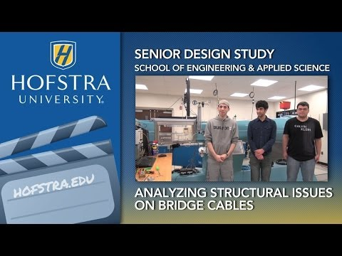Senior Design Study Analyzes Structural Issues on Bridge Cables