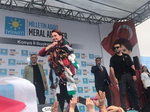 Cumhurbaşkanı Adayı Meral Akşener Konya'da coşkulu kalabalığa seslendi