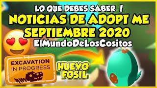 NOTICIAS DE ADOPT ME HUEVO FOSIL - SEPTIEMBRE 2020