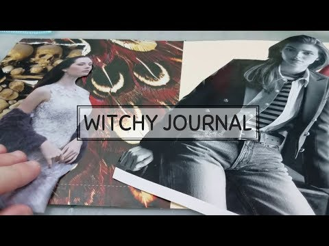 Witchy Journal #4   Magazine Collage Art Journal