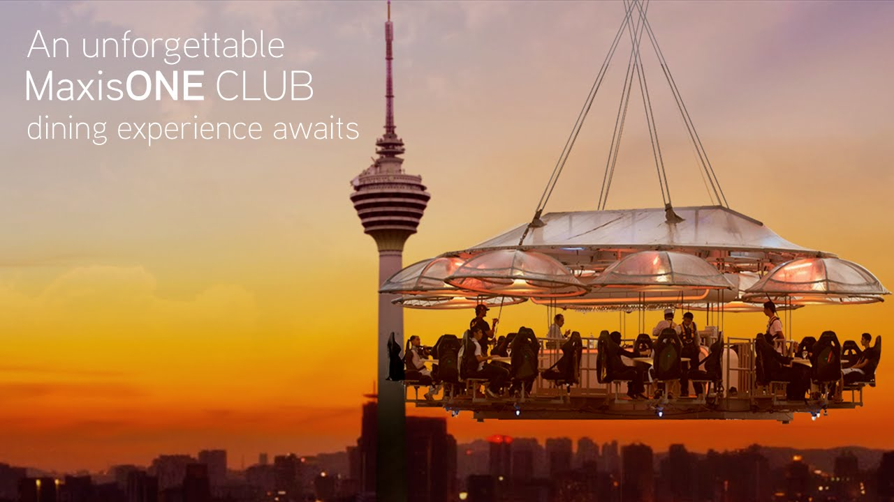 Dining In The Sky With MaxisONE Club YouTube - Dinner in the sky an unforgettable experience