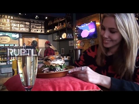 Russia: This €75 gold-topped burger could be Russia's most expensive