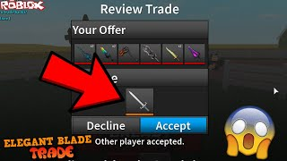 I FINALLY TRADED FOR AN ELEGANT BLADE! *WAS IT WORTH IT?* (ROBLOX ASSASSIN VERY BEST TRADE EVER YET)