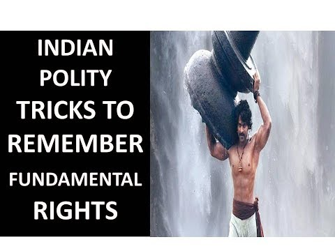 Funny Tricks to Remember Fundamental Rights|Through Bahubali Story| Indian polity