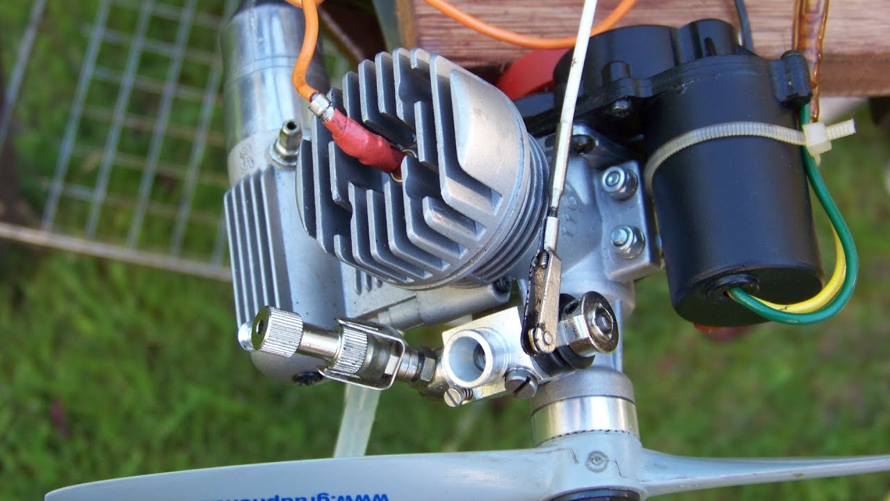 RC Electric Engine Starter on 2 stroke engine cycle