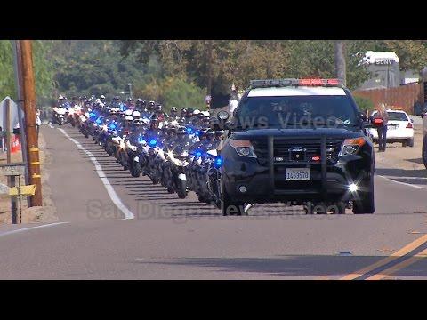 SDPD Officer Jonathan De Guzman Funeral Procession (FULL PROCESSION), El Cajon