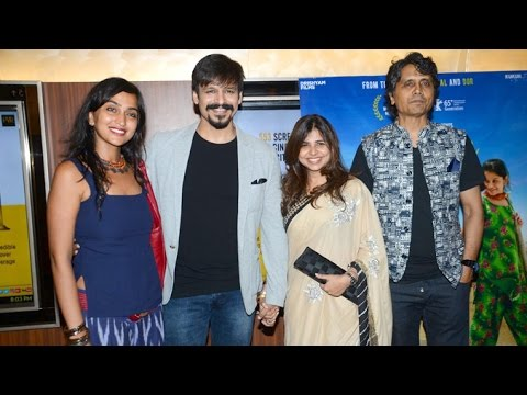 Vivek Oberoi & Nagesh Kukunoor With Their Wives At Dhanak Special Screening