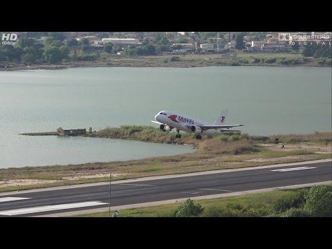 YL-LCE Travel Service Airbus A320-211 TAKE OFF RWY 17 at Kerkyra Airport Corfu, CFU [FULL HD]