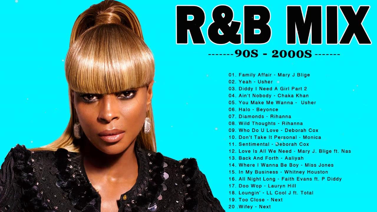 90'S - 2000S R&B PARTY MIX - Mary J  Blige, Beyonce , Usher, Rihanna, Chris Brown