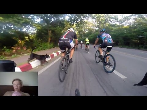 Racing up Doi Suthep Sub 38 Vegan Crew