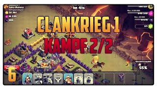 Let´s Play Clash of Clans #6 [GER] | Clankrieg [1] Kampf 2/2 + Lost/Won? | Vicevice
