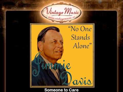 JIMMIE DAVIS Gospel Spiritual. Country , No One Stands Alone , Lord