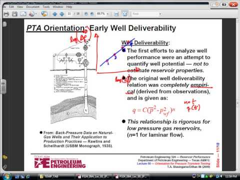 Petroleum Engineering, Reservoir Performance, PTA Orientatio