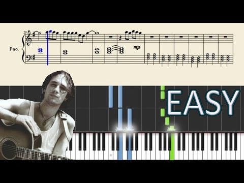 Hallelujah (Jeff Buckley) - EASY Piano Tutorial + Sheets