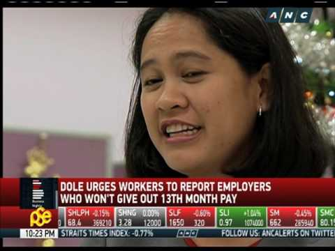 DOLE: Report employers who won't give 13th month pay