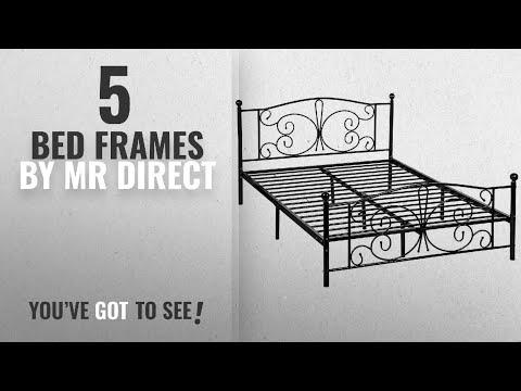 Top 10 Mr Direct Bed Frames [2018]: Mr Direct Metal Platform Bed Frame with Headboard and Footboard