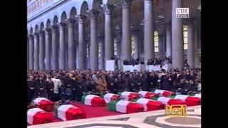 Funerali per i caduti a Nassirya