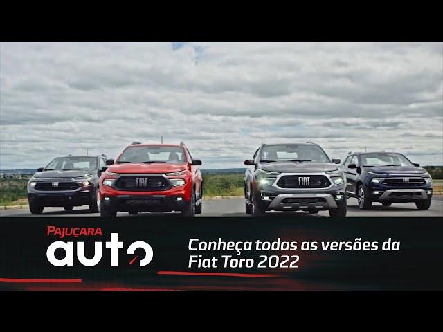 Conheça todas as versões da Fiat Toro 2022