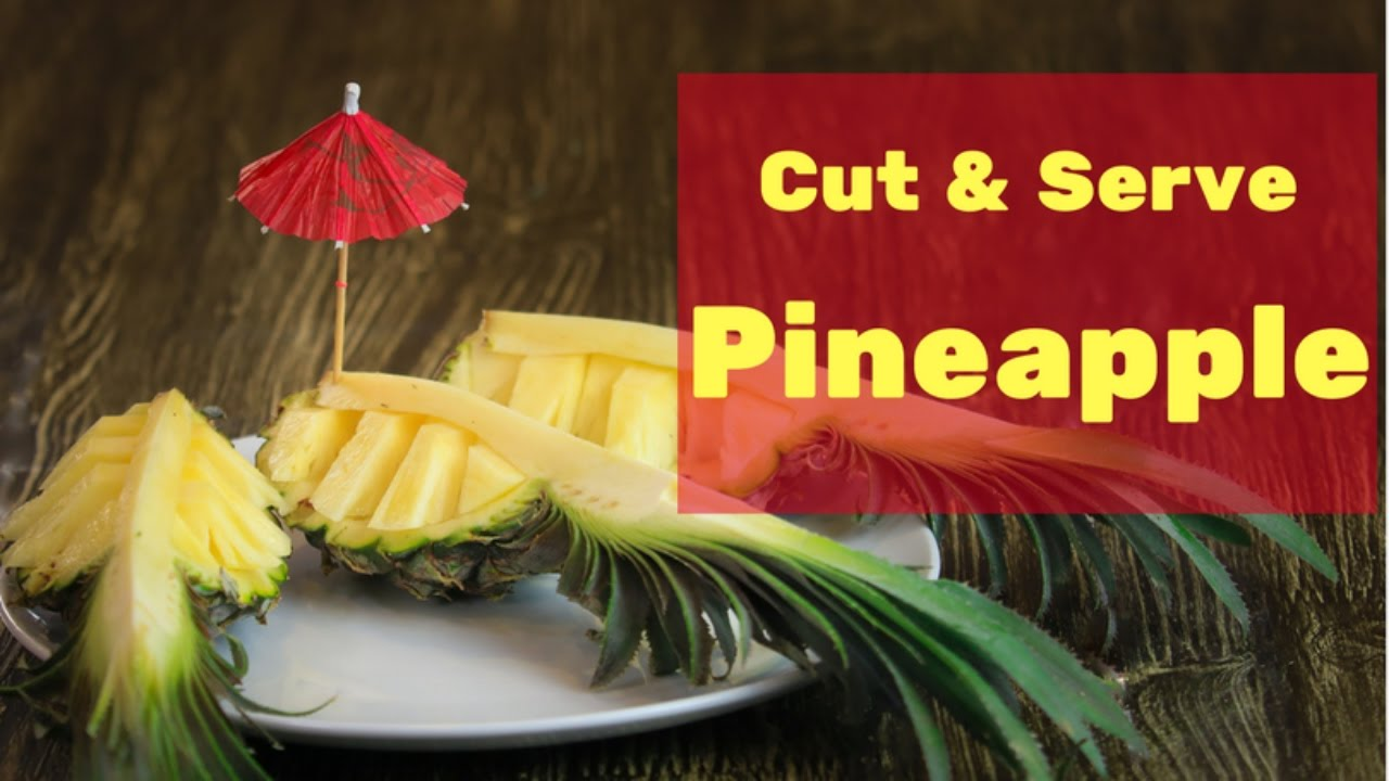 how to cut pineapple with knife youtube
