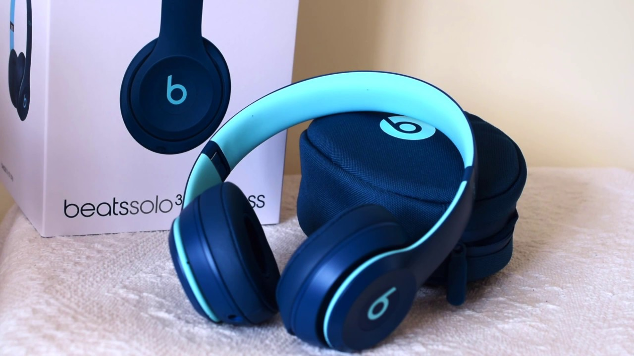 d014ab8c51b UNBOXING BRAND NEW BEATS SOLO 3 WIRELESS ON-EAR HEADPHONES IN COLOUR POP  BLUE